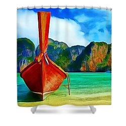 Watermarked-a Dreamy Version Collection Shower Curtain