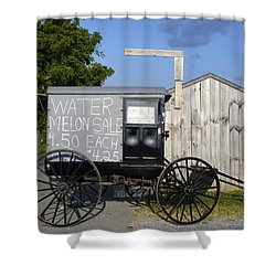 Watermelon Wagon Shower Curtain