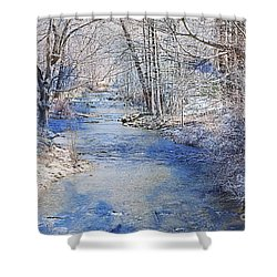 Water's Edge Shower Curtain by A New Focus Photography