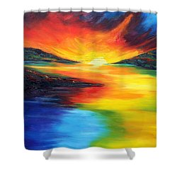 Shower Curtain featuring the painting Waters Of Home by Meaghan Troup