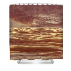 Waterscape Number Seven Shower Curtain by Bob Orsillo