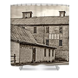 Waterside Woolen Mill Shower Curtain by Steve Harrington