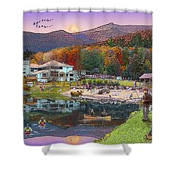 Waterville Estates In Autumn Shower Curtain by Nancy Griswold