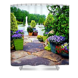 Waterway Path Shower Curtain