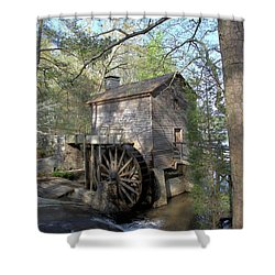 Shower Curtain featuring the photograph Waterwheel At Stone Mountain by Gordon Elwell