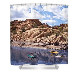 Watson Lake Kayaks Shower Curtain