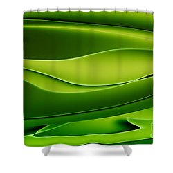 Wave Art V Shower Curtain by Ludek Sagi Lukac