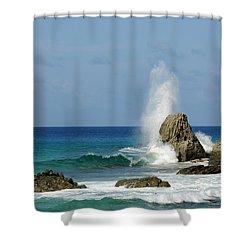 Wave At Boldro Beach Shower Curtain