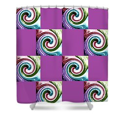 Wave Of Purple 2 Shower Curtain