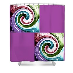 Wave Of Purple Shower Curtain