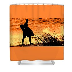 Shower Curtain featuring the photograph Wave Search by Ian  MacDonald