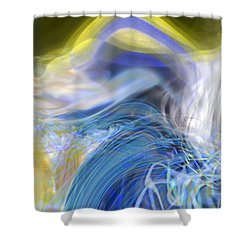Wave Theory Shower Curtain by Richard Thomas