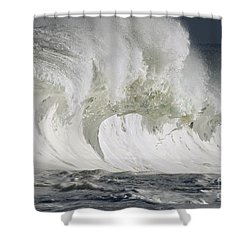 Wave Whitewash Shower Curtain by Vince Cavataio