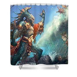 Wavecrash Triton Shower Curtain