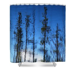 Wavering Shower Curtain by Brian Boyle