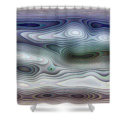 Abstract Waves 15 Shower Curtain