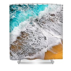 Waves Abstract Shower Curtain by Silvia Ganora