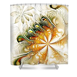 Waves And Pearls Shower Curtain by Anastasiya Malakhova