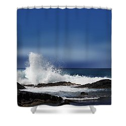 Shower Curtain featuring the photograph Waves by Athala Carole Bruckner