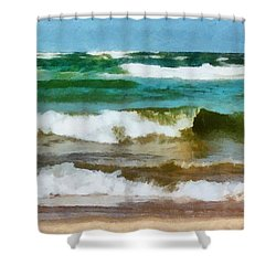 Waves Crash Shower Curtain