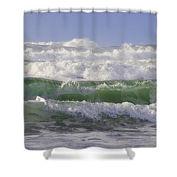 Waves In The Sun Shower Curtain