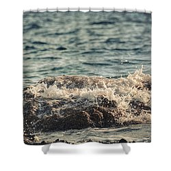 Waves In Time IIi Shower Curtain by Taylan Apukovska