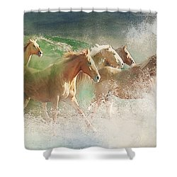 Waves Of God's Glory Shower Curtain