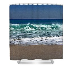 Waves Of Happiness  Shower Curtain