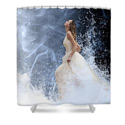 Waves Of His Glory Shower Curtain