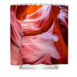 Waves Of Redrock Shower Curtain