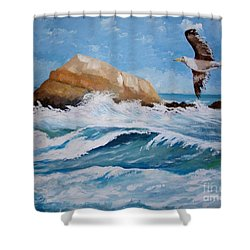 Waves Of The Sea Shower Curtain