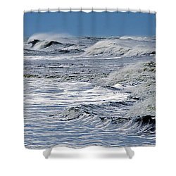Waves Off Sandfiddler Rd Corolla Nc Shower Curtain