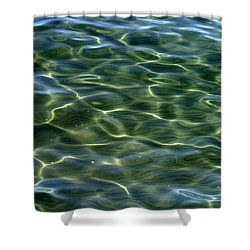 Waves On Lake Tahoe Shower Curtain