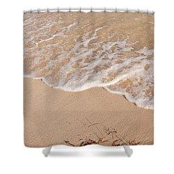 Waves On The Beach Shower Curtain by Adam Romanowicz