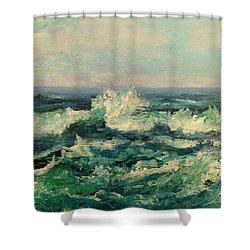 Waves Painting Shower Curtain