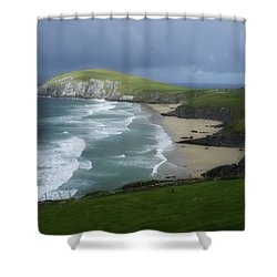 Waves Ring Of Dingle Shower Curtain