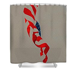 Waving Shower Curtain by Lydia Holly