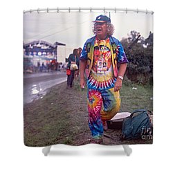 Wavy Gravy At Woodstock Shower Curtain by Chuck Spang