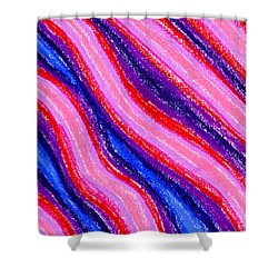 Wavy Oil Pastel Shower Curtain by Hakon Soreide