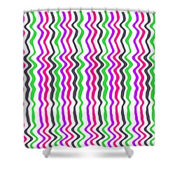 Wavy Stripe Shower Curtain by Louisa Hereford