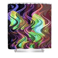 Wavy Shower Curtain by Yael VanGruber
