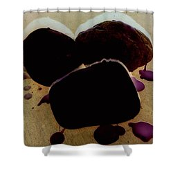 Waxy Stones Shower Curtain