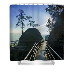 Way Into The Light On Neurathen Castle Shower Curtain