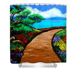 Way To The Sea Shower Curtain
