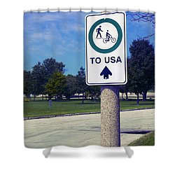 Way To The Usa Shower Curtain