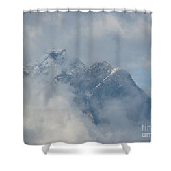 Shower Curtain featuring the photograph Way Up Here by Greg Patzer