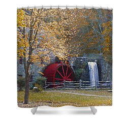 Wayside Inn Grist Mill Shower Curtain by Jean-Pierre Ducondi
