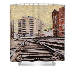 Wb - West Bottoms - Kcmo Shower Curtain by Liane Wright