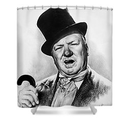Wc Fields My Little Chickadee Shower Curtain by Andrew Read