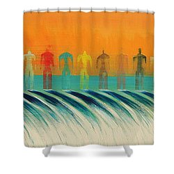 We Are All The Same Shower Curtain by Tim Mullaney